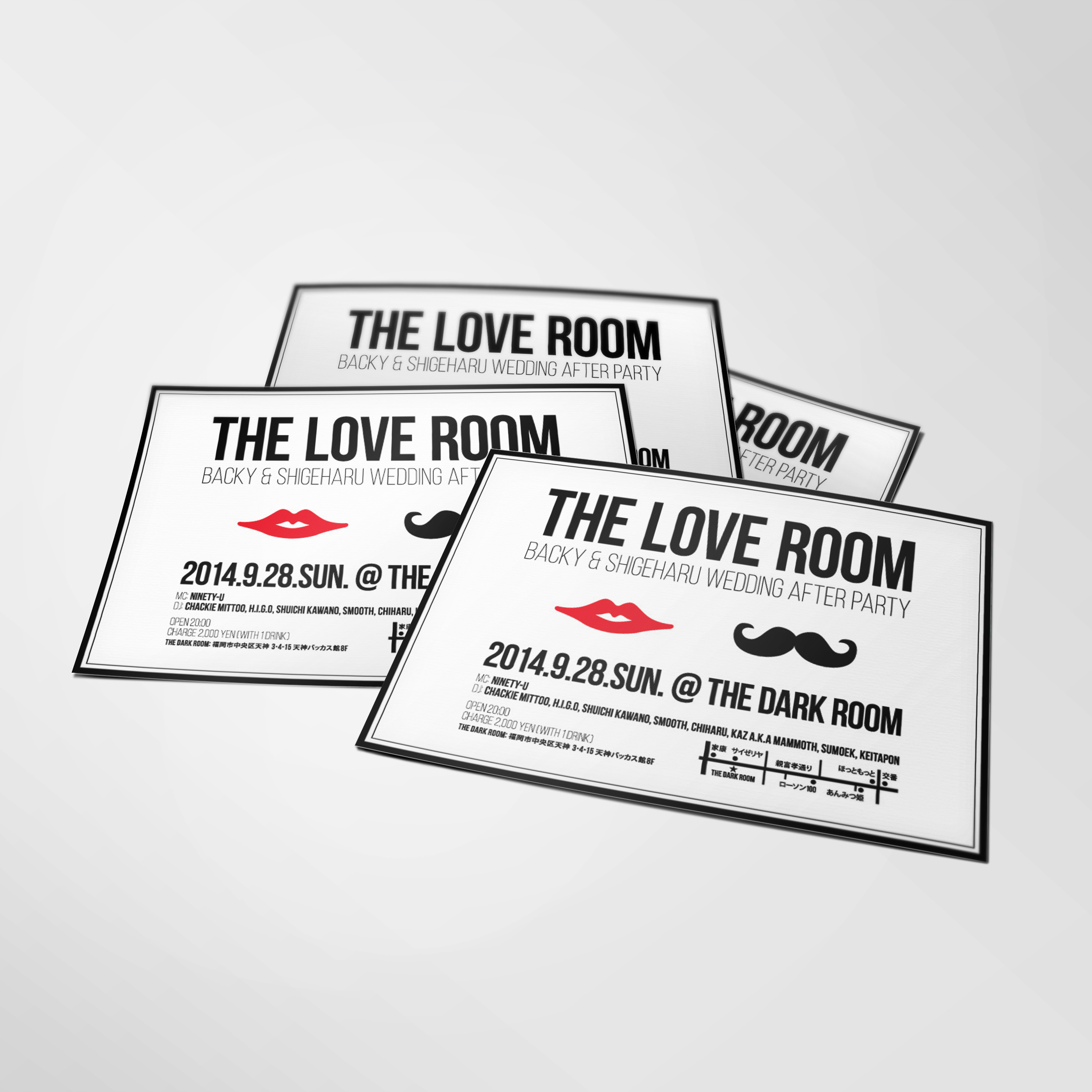 THE LOVE ROOM フライヤー