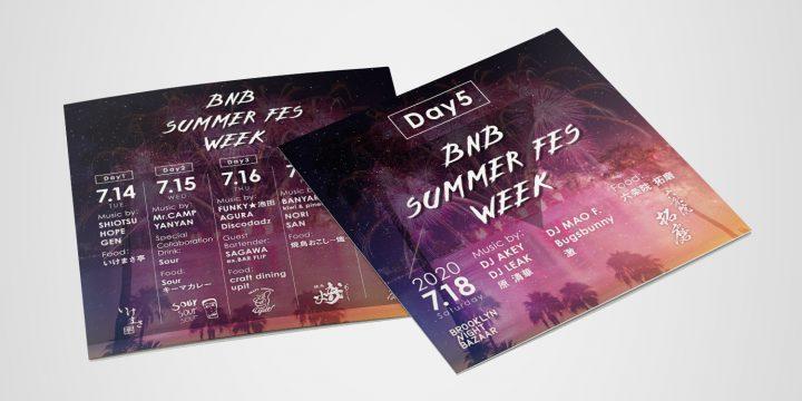 BNB SUMMER FES WEEK